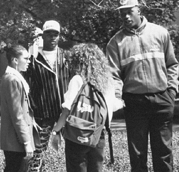 Shaquille O'Neal and Odell Beckham Sr. Flirting with some girls at LSU 1991
