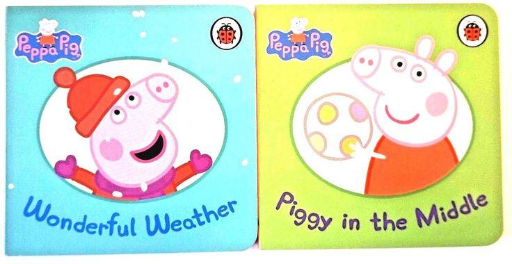 PEPPA PIG LADYBIRD books PIGGY IN MIDDLE WONDERFUL WEATHER JOB LOT BUNDLE NEW