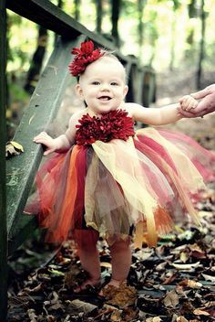 Image result for infant flower girl fall colors