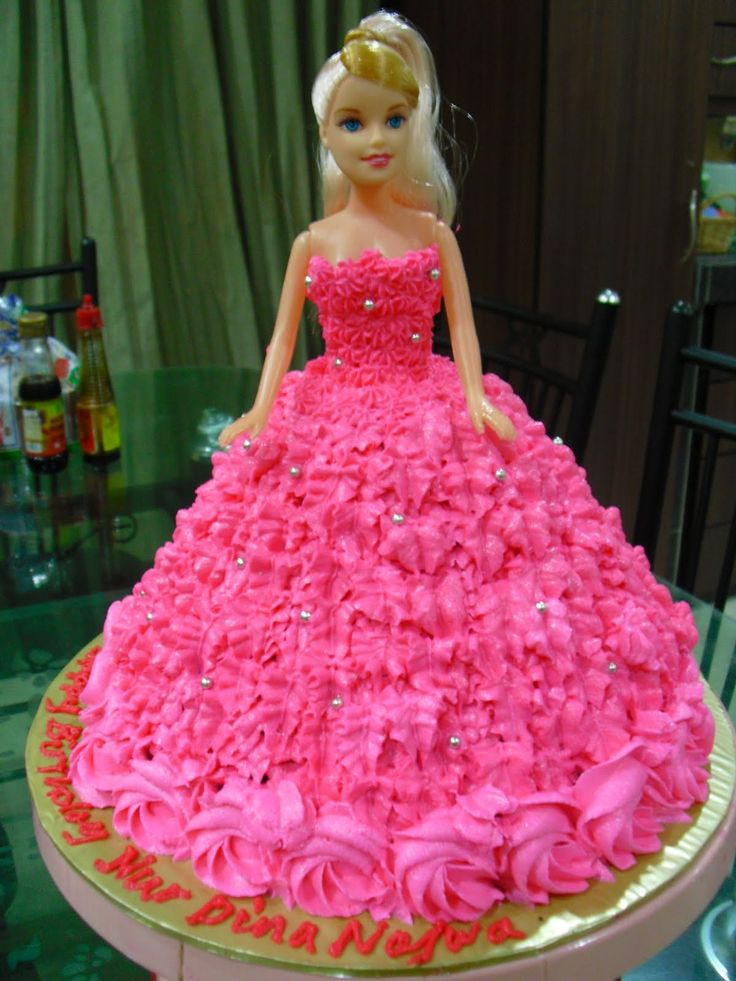 barbie birthday cake doll cake doll for the b day crafts 1496