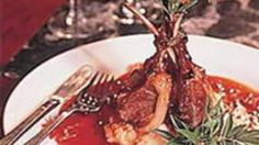 Roasted crown of lamb with quandong glaze recipe : SBS Food