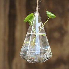 #Banggood Висячей капли воды образный стеклянный гидропоника ваза для цветов дома сад украшение свадьба (1064631) #SuperDeals