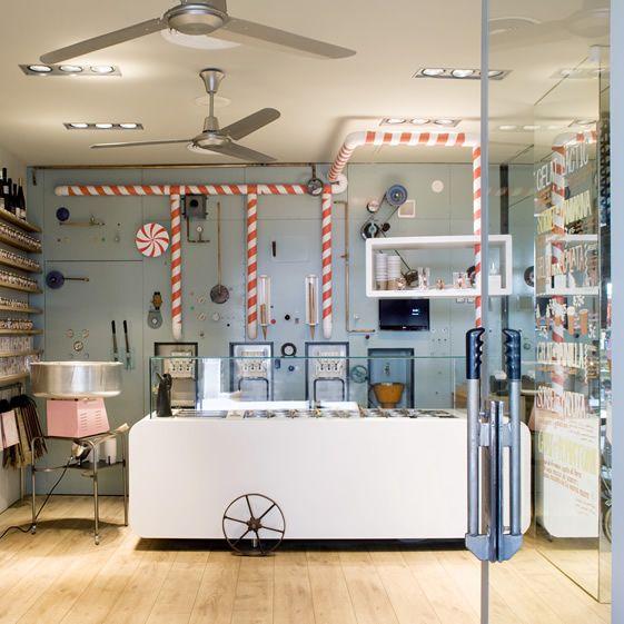 Rocambolesc Gelateria, GironaBar Design, Rocambolesc Gelateria, Architecture Interiors, Design Interiors, Restaurants Interiors, Interiors Design, Ice Cream, Design Blog, Icecream