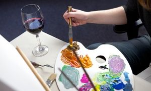 Groupon - Painting Party for 1, 2, 4, or Up to 18 People at NYC Sip & Paint Party with StelnikArt Soirée (Up to 63% Off)       in Multiple Locations. Groupon deal price: $35
