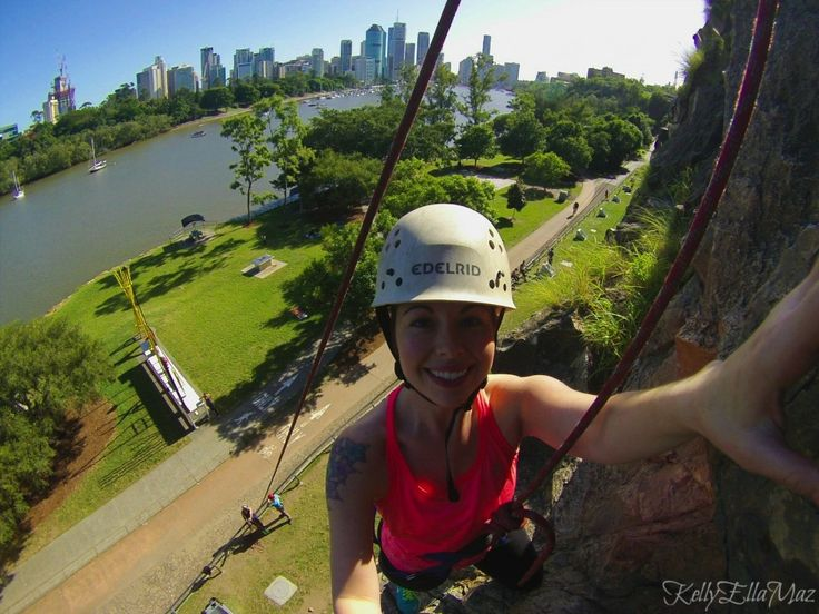 Rock climbing in the middle of downtown Brisbane. Check out that killer view! (Click the image to find out more)