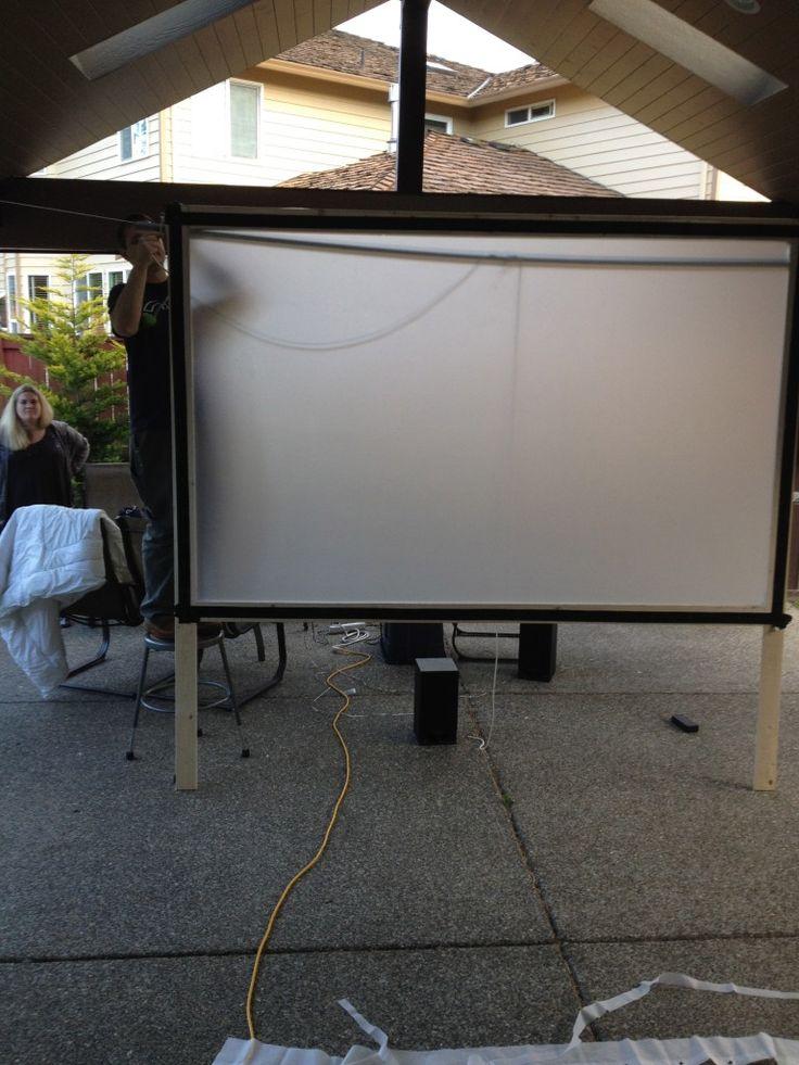 diy movie screen diy outdoor backyard movie theater