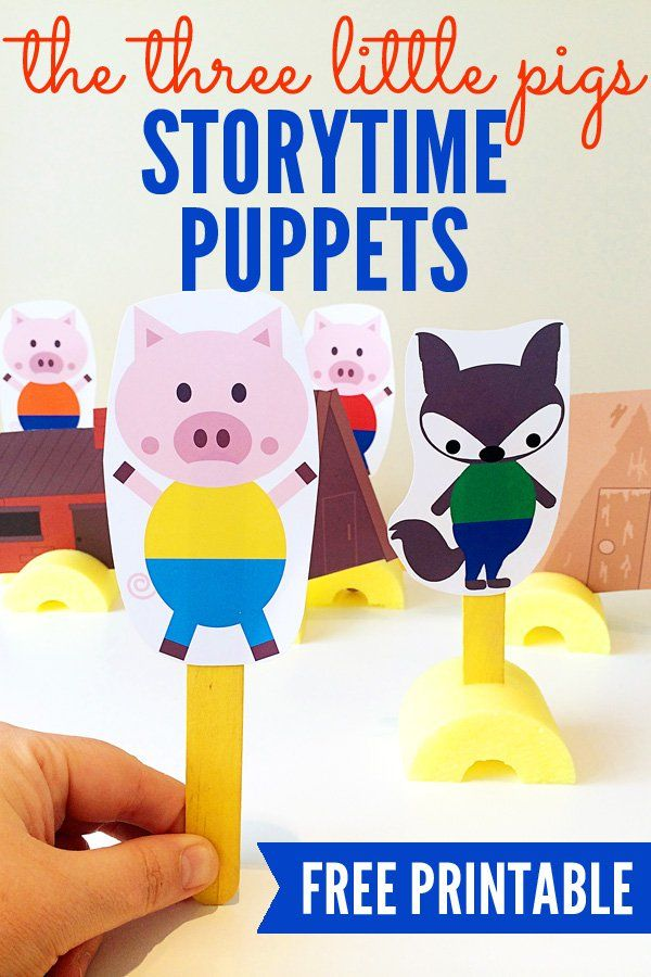 A fun set of printable puppets to inspire your child's storytelling! Who doesn't love the classic story of The Three Little Pigs!