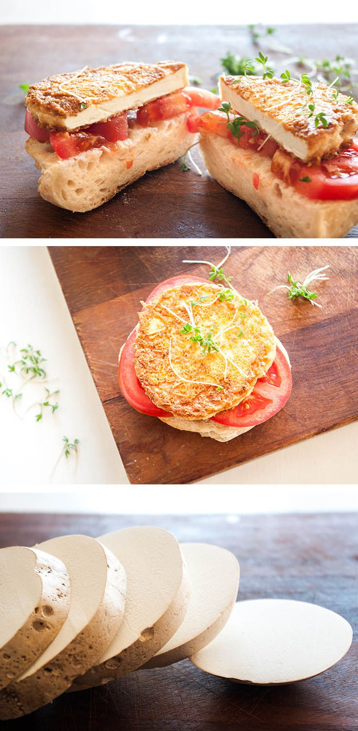 Puffball wild mushrooms are in season! Use them in these fantastic veggie burgers with a Parmesan crust.