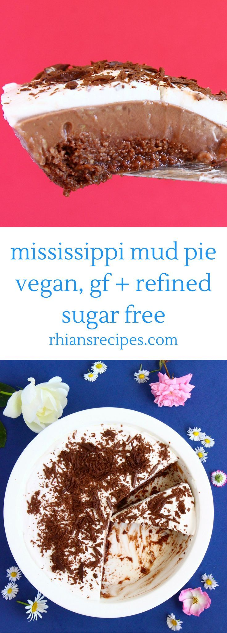 This vegan, gluten-free + refined sugar free Mississippi Mud Pie is the most delicious and indulgent dessert, but so much healthier than the traditional version