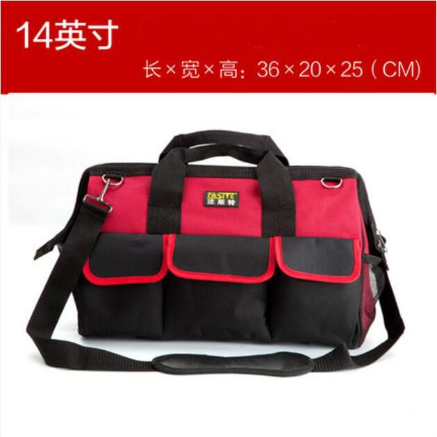 FASITE Tool Bag Combo WAIST BELT Organizer Professional Electricians Tool Pouch Tool Bag Red