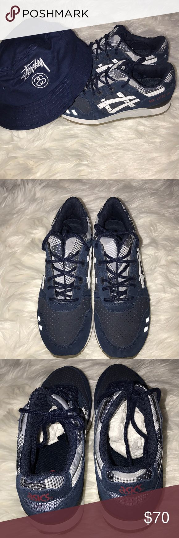 Wmn's Ascis Gel-Lyte lll Sz 8 EUC. Worn a couple of times but no flaws!! Hat for sale if interested Asics Shoes Sneakers