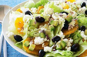 Lettuce and orange salad  http://www.taste.com.au/recipes/14943/lettuce+and+orange+salad