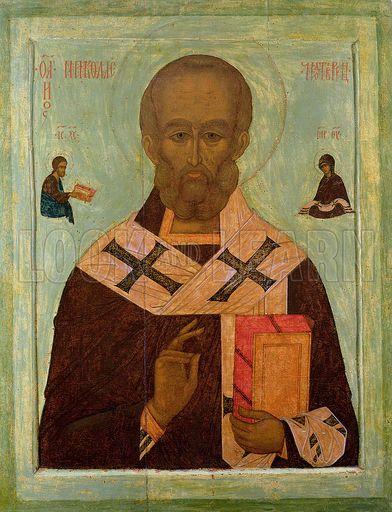 Icon of St. Nicholas, Russian School, 16th century.