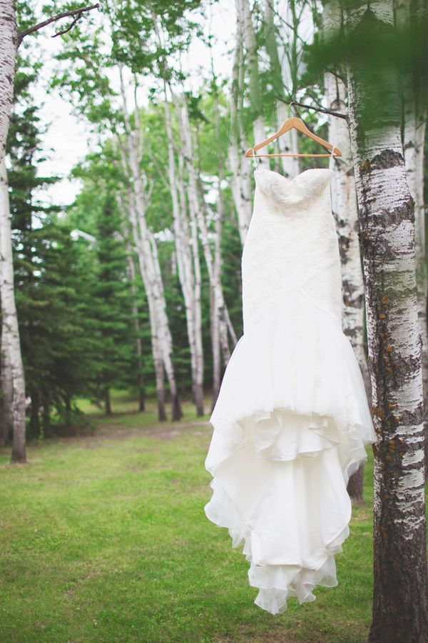 dress in the wild // photo by Simply Rosie // http://ruffledblog.com/colorful-manitoba-wedding