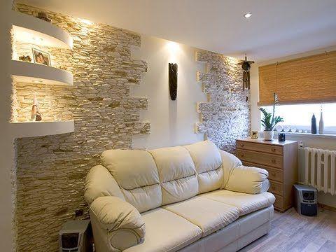 Каменные Стены в Интерьере Гостиной - YouTube