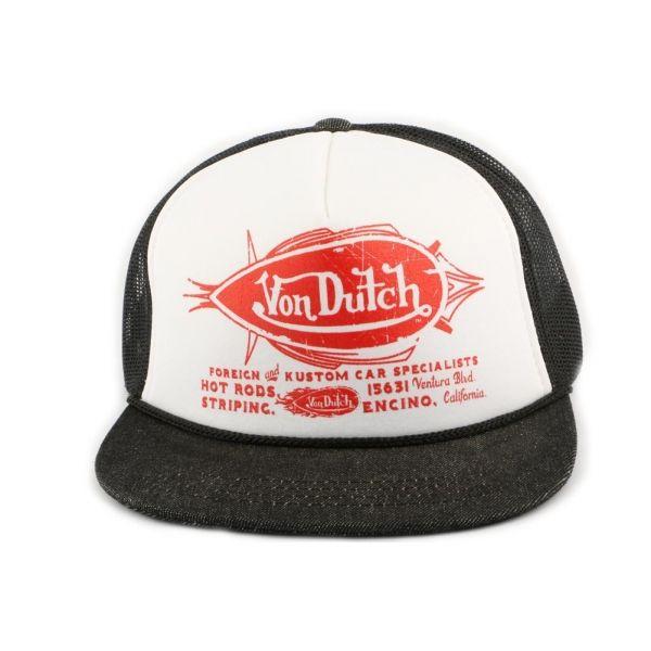 Casquette Trucker Von Dutch Foreign and Kustom #mode #snapback #tendance #startup sur votre boutique Headwear Hatshowroom.com