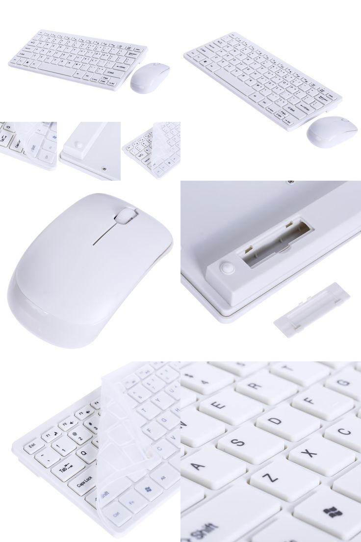 [Visit to Buy] 2017 New 1set 2.4G White Wireless PC Keyboard +Mouse + cover Film Keyboard Mouse Combos For Desktop  PC Laptop computer notebook #Advertisement