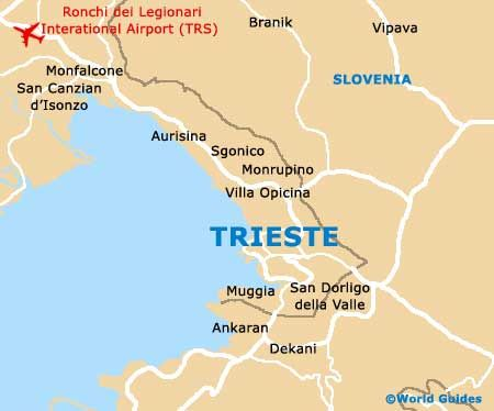 Trieste Italy Map | Trieste Tourist Information and Tourism