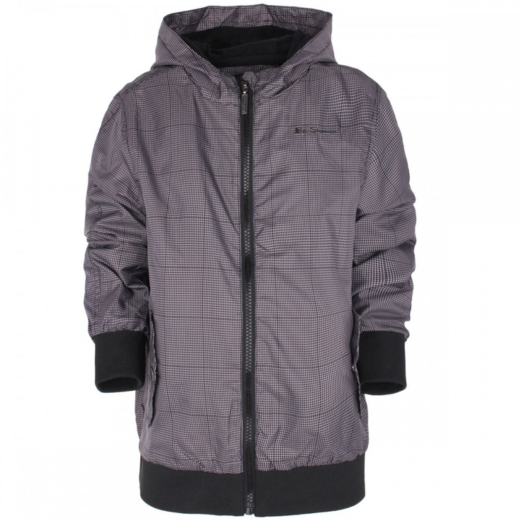 Ben Sherman - Black and grey micro-check rain jacket from Ben Sherman, only $42.84