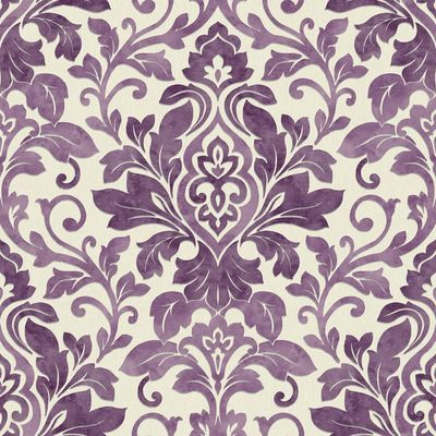 Plum Purple / Cream - 414602 - Mozart - Damask - Arthouse Wallpaper   eBay