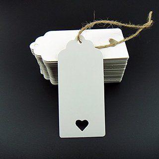 100tlg. Geschenk Anhänger Papieranhänger Hängeetiketten Anhängeetiketten zum Selbstgestalten Preis Etiketten Schilder Anhänger Papieretiketten 9 x 4cm