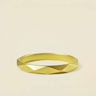 carla caruso $427   small faceted wedding band