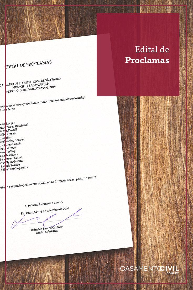 Quando o Edital de Proclamas é necessário?! Hoje no blog tiramos todas as dúvidas sobre esse documento. Clique na imagem para saber mais.