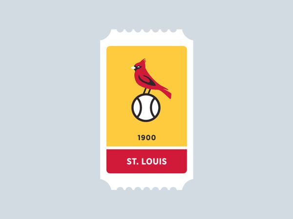 St. Louis Cardinals MLB Ticket. MLB Ticket Icon Series by Jon Ringger.