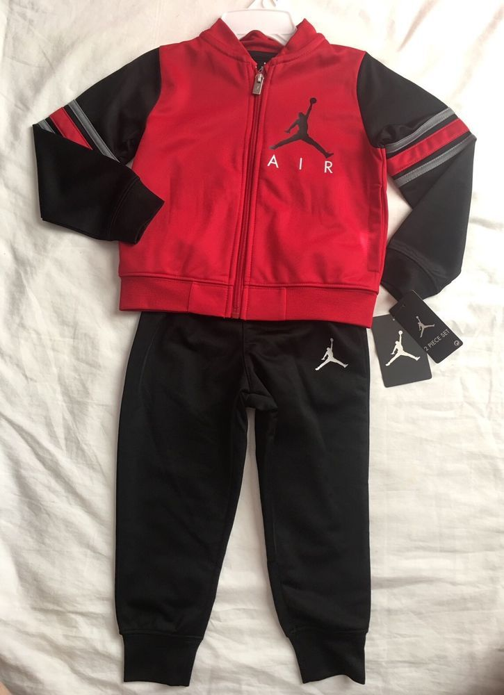 03b23fc8e0f 2 Piece Set Nike Air Jordan Zip Up Jacket & Pants, Size 2T, Red Black $48  Track #NikeAirJordan #Tracksuit #AthleticCasual | Kids Apparel | Kids  outfits, ...