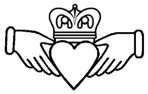 Héraldie: Héraldique et symboles : la main, Le Cladagh Ring symbole traditionnel irlandais d'amitié et de loyauté