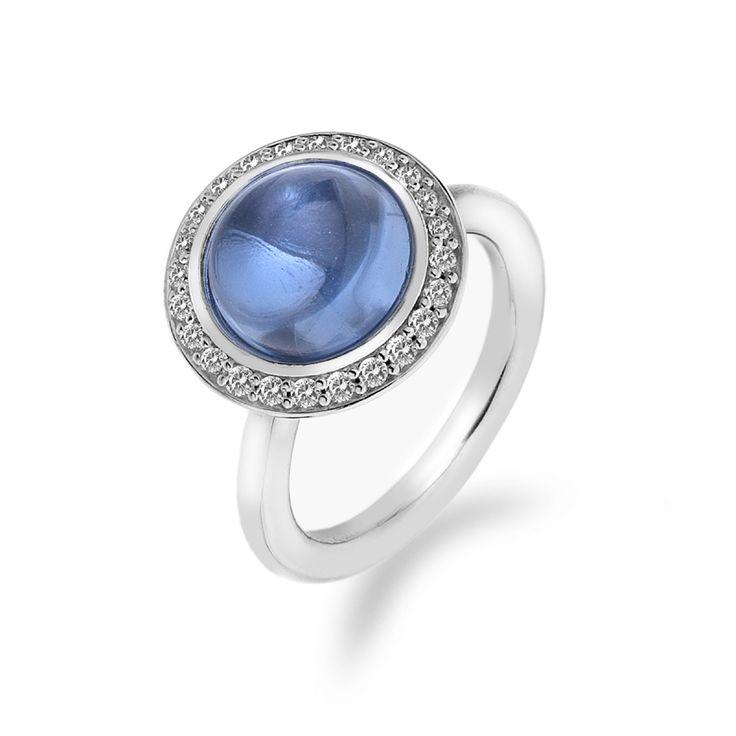 Stříbrný prsten Hot Diamonds Emozioni Laghetto Azure