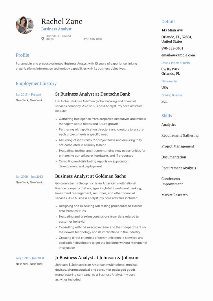 Sample Business Analyst Resume Fresh Full Guide Project