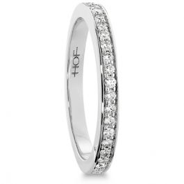 ENTICEMENT CHANNEL WEDDING BAND - Hearts On Fire. This elegant diamond wedding band, embellished with perfectly cut Hearts On Fire diamonds, is a timeless beauty and pairs perfectly with either the Enticement Channel Engagement Ring or the Enticement Channel Dream Engagement Ring. Available in 18K White & Yellow Gold and Platinum.
