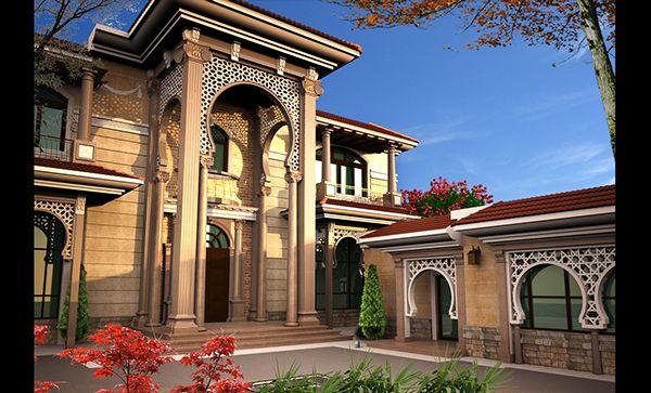 Villa khaled exterior design in doha qatar on for Villa exterior design