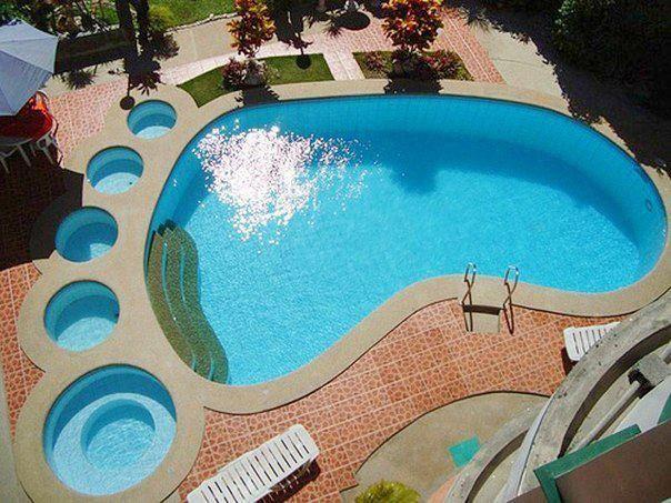 Foot Shaped Pool