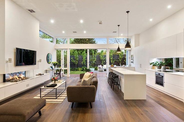 ~ Interior inspiration | Could that garden view be any greener? Image Source: Domain