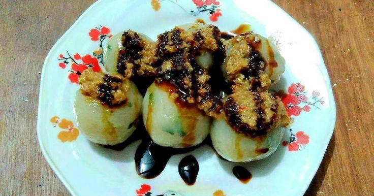 Resep Cilok Isi Sosis bumbu Kacang favorit.