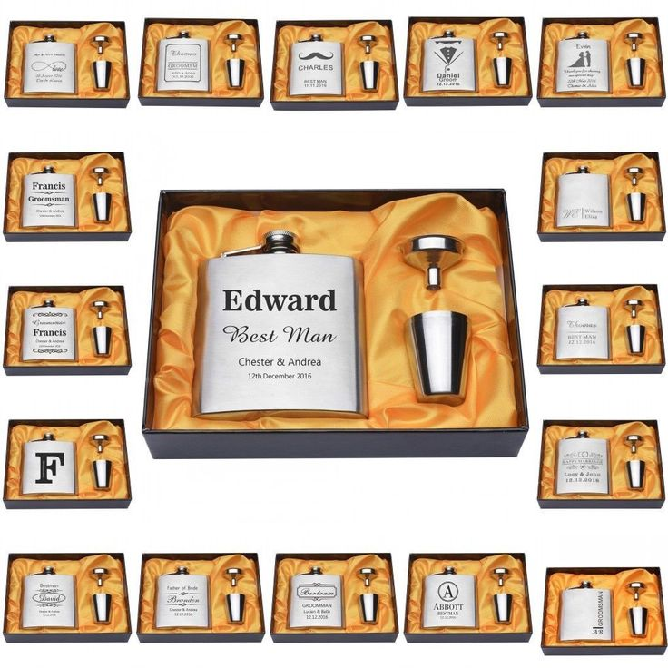 Wedding Gift From Groomsmen: Details About FLASKS Personalized Engraved Flask Groomsmen