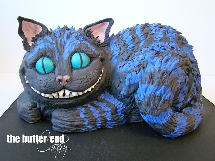 3-D sculpted Cheshire cat from Alice in Wonderland by The Butter End Cakery