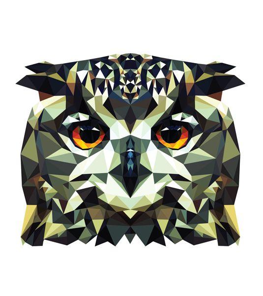 311 best geometric animals,,art, designs images on Pinterest