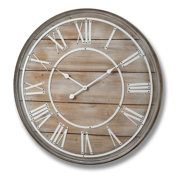 Large wooden wall clock (80cm) | Bedroom Furniture Direct
