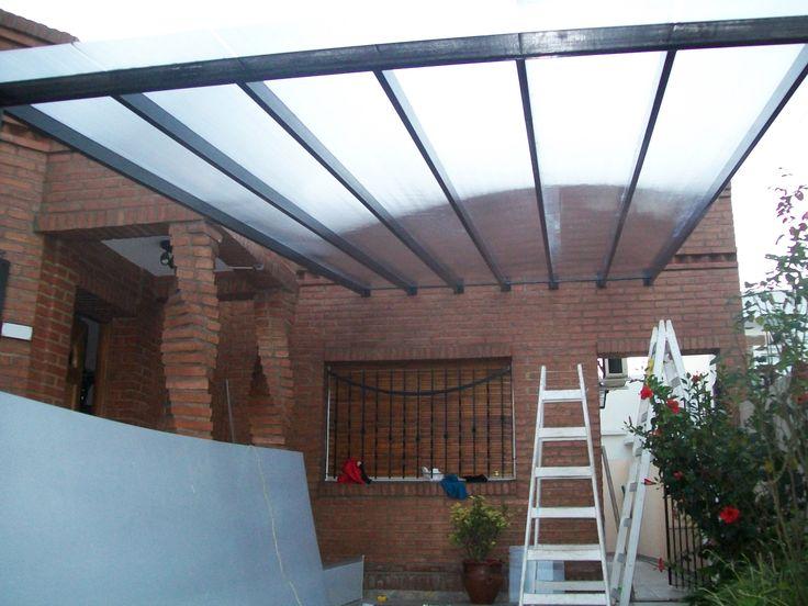 Cubierta garage realizada en ca o estructural y - Cubierta para pergola ...