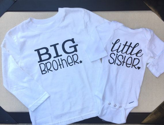 Big Brother Little Sister Shirt Set by ShopFrillsBoutique on Etsy