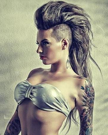 1000+ ideas about Long Hair Mohawk on Pinterest | Mohawks, Shaved ...