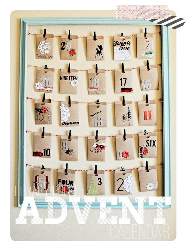 advent-calendar library card holders