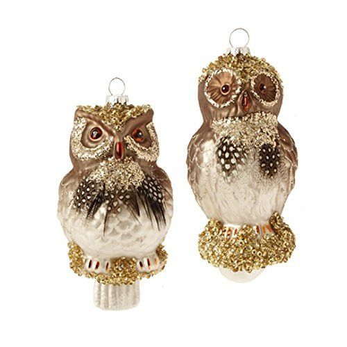 "RAZ Imports - 5"" Owl Ornaments - Set of 2"