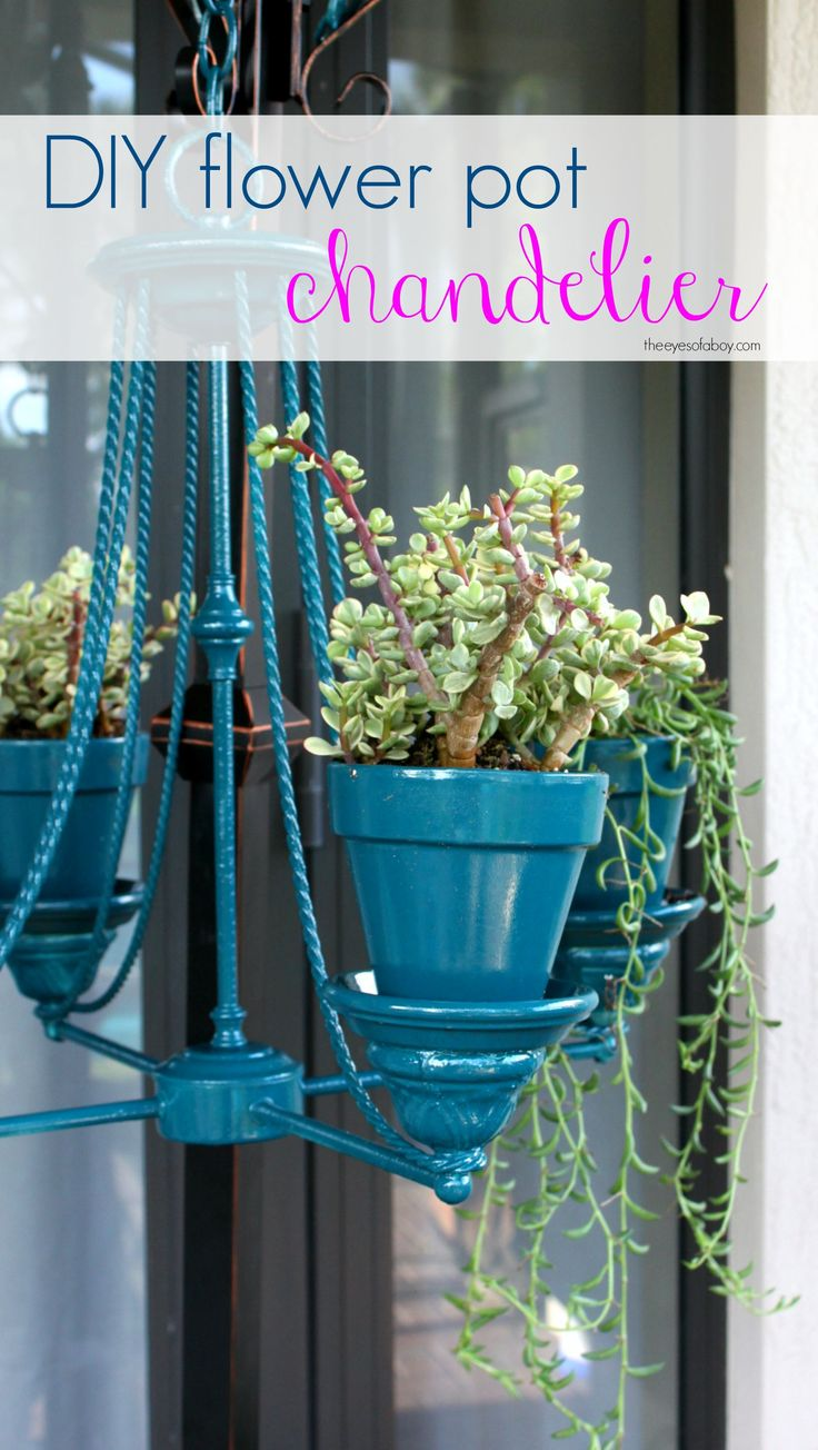 Flower Pot Chandelier & Patio Makeover