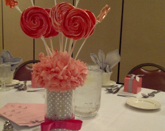 owl sucker  centerpieces | Lollipop Centerpiece