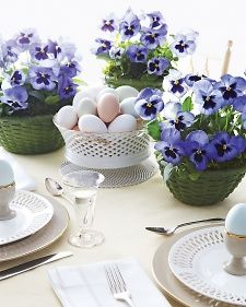 Easter table setting via Martha Stewart