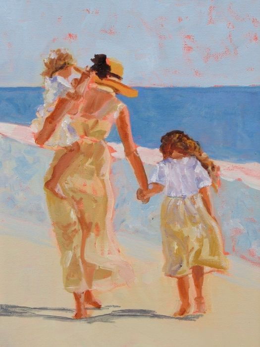 Mother and Two Daughters Fine Art Print - Molly Wright
